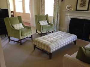 Auburn Wing Chairs, Ottoman & Lyon Sofa