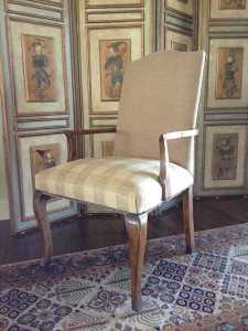 Re-upholstered Provincial Carver Dining Chair