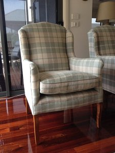 Customised armchairs by Wills Furniture