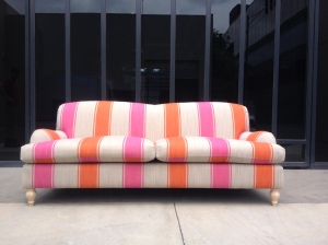 Dazzling striped pattern on Bradbury sofa