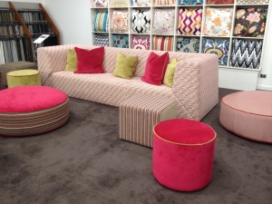 Customised couch with ottomans