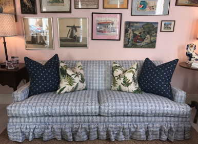 Clivedon Sofa with fabric by Anna Spiro Textiles