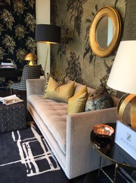 Seattle sofa, Venice desk chair and Cube ottoman