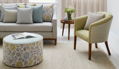 The Byron Chair and the Lyon Sofa